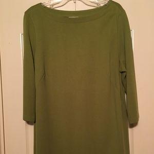 J Jill Green 3/4 Sleeve Tunic Top Green XL